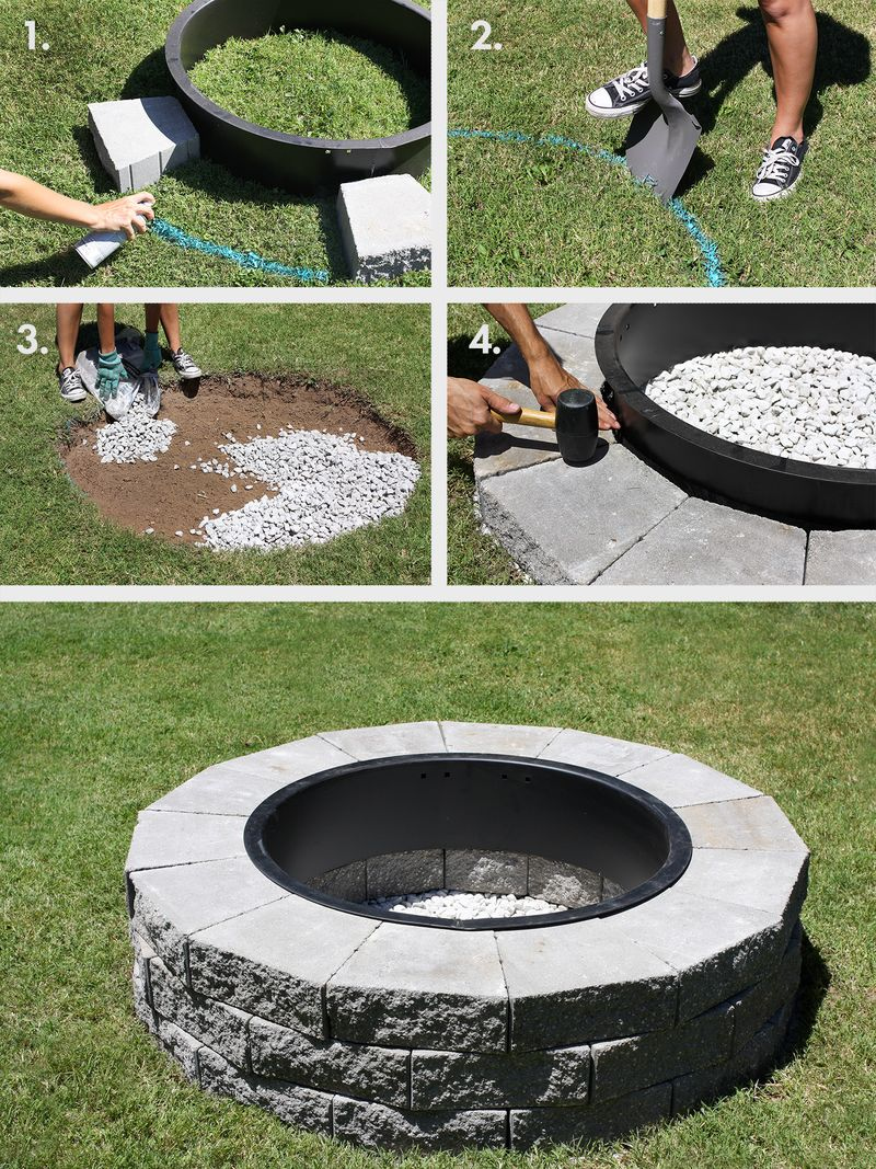 garden fire pit. The First Step Once You Have Decided On Materials Required And Type Of Fire Pit Require, Is To Mark Out Your Proposed Pit. Garden